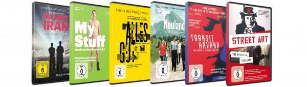 Dokumentarfilm DVD Shop Auswahl unserer Bestseller: My Stuff, Raving Iran, Alles Gut, Neuland, Transit Havana und Streetart.